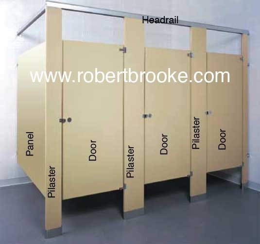 TOILET PARTITION POWDER COATED STEEL PANELS GUIDE Robert Brooke Helps - Bathroom partition hardware